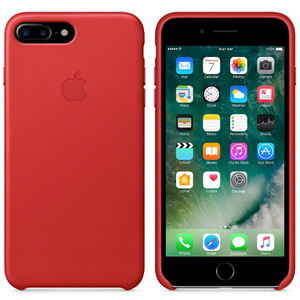 Apple iPhone 7 Plus Leren Hoesje - Rood