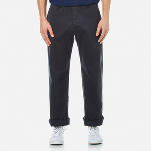 YMC Men's Thin White Duke Trousers - Navy
