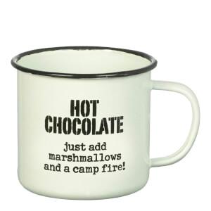 Tasse En Émail Hot Chocolate Parlane -Blanc (8 X 9 Cm)