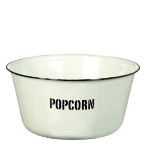 Parlane Enamel Popcorn Bowl - White (12 x 25cm)