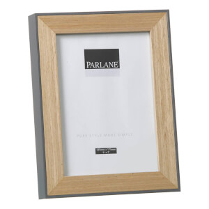 Parlane Oundle Wooden Frame - Natural/Grey (22 x 17cm)