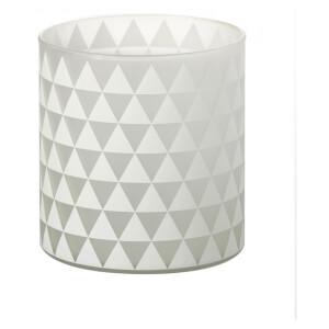 Photophore en Verre Triangles Parlane - Blanc (13 x 12 cm)