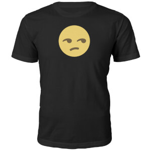Emoji Unisex Side Eye Face T-Shirt - Black