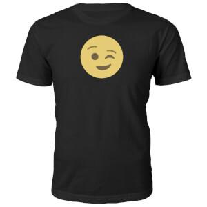 T-Shirt Unisexe Emoji Clin d'Œil -Noir