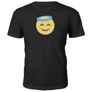 Emoji Unisex Angel Face T-Shirt - Black