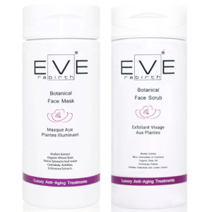 Mascarilla facial Botanical + Exfoliante facial Botanical de Eve Rebirth