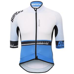 Santini Photon 3.0 Jersey - White/Blue