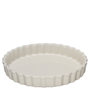 Le Creuset Stoneware Fluted Flan Dish 24cm - Almond