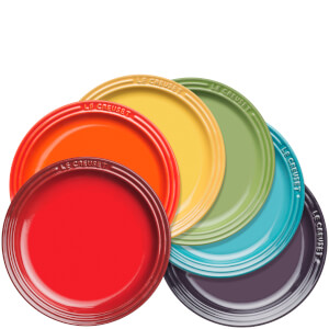 Le Creuset Stoneware Rainbow Plates (Set of 6)