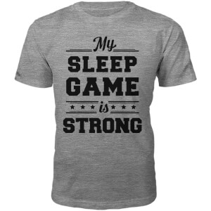 Sleep Game Slogan T-Shirt - Grey