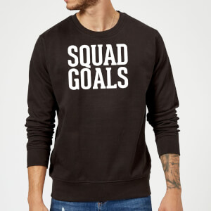 Squad Goals Slogan Sweatshirt - Black