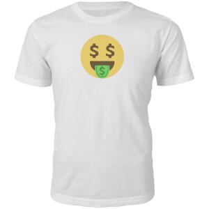 Emoji Unisex Dolla Dolla Dolla Face T-Shirt - White