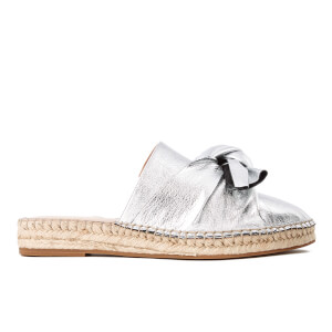 KG Kurt Geiger Women's Niamh Leather Mule Espadrille Sandals - Silver