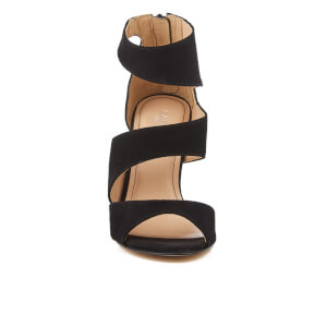 Carvela Women's Gene Suede Triple Strap Heeled Sandals - Black: Image 4