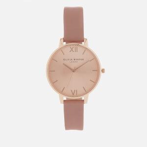 Olivia Burton Women's Big Dial Watch - Rose/Rose Gold