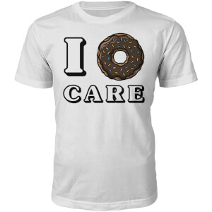 I Donut Care Slogan T-Shirt - White