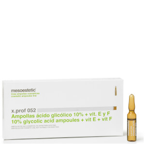 Mesoestetic Glycolic 10% + Vitamin E & F Ampoules Renewal Solution