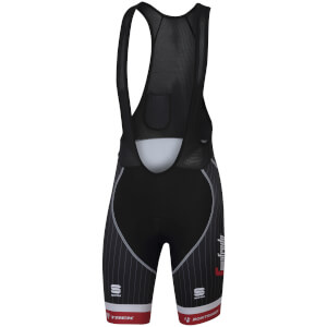 Sportful Trek-Segafredo BodyFit Pro Classic Bib Shorts - Black/White/Red