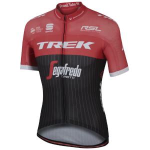 Sportful Trek-Segafredo BodyFit Pro Ultralight Short Sleeve Jersey - Black/Red/White