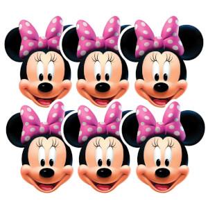 Lot de 6 Masques de Déguisement Minnie Mouse - Disney