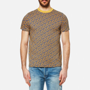 Levi's Vintage Men's 1960's Jacquard T-Shirt - Floral Blue/Yellow