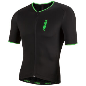 Nalini Xtornado Ti Short Sleeve Jersey - Black/Green