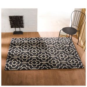 Flair Moorish Morocco Rug - Charcoal