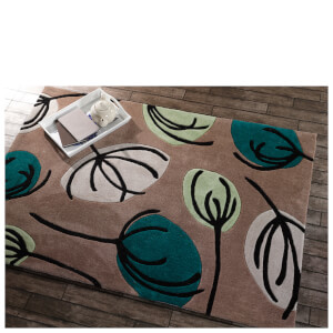 Flair Infinite Inspire Rug - Fifties Floral Teal
