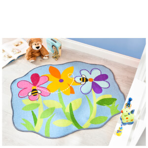 Flair Matrix Kiddy Rug - Flower Bed Multi (100X120)