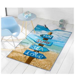 Flair Matrix Themes Rug - Beach Sign Multi (100X160)