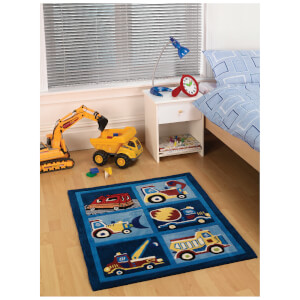 Tapis Flair Kiddy Play Rugs - Camions (80X100)