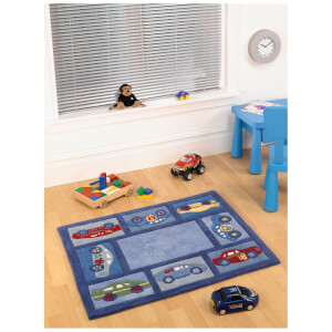 Tapis Flair Kiddy Play Rugs - Voitures de Course (80X100)