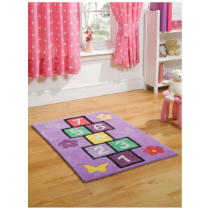 Flair Kiddy Play Rug - Hopscotch Multi (110X160)