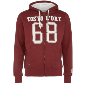 Tokyo Laundry Men's Goodlow Zip Through Hoody - Oxblood Red