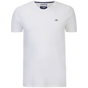 Le Shark Men's Glasshouse V Neck T-Shirt - Optic White