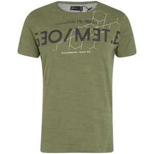 Dissident Men's Octagon T-Shirt - Olive Khaki