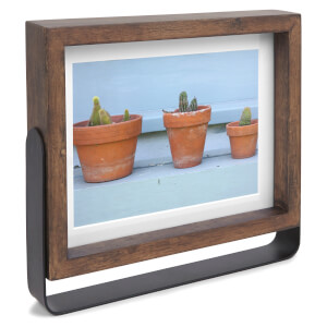 Umbra Axis Photo Display - Aged Walnut (13 x 18cm)