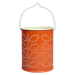 Orla Kiely Tealight Lantern - Linear Stem Persimmon