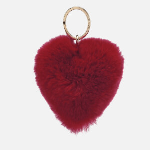 Furla Women's Bubble Pom Pom Cuore Keyring – Ruby