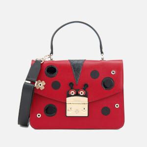Furla Women's Metropolis Doodle Small Top Handle Bag - Ruby/Black