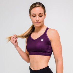 L - Core Sports Bra - Dark Berry