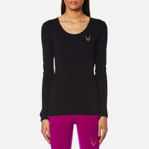 Lucas Hugh Women's Core Technical Knit Long Sleeve Top - Black