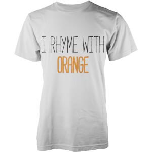 T-Shirt Homme I Rhyme with Orange -Blanc