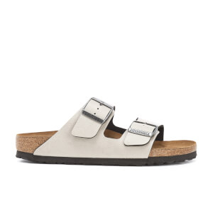 Birkenstock Women's Arizona Slim Fit Pull Up Double Strap Sandals - Stone