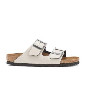 Birkenstock Women's Arizona Slim Fit Pull Up Double Strap Sandals - Stone