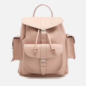 Grafea Women's Medium Leather Rucksack - Cappuccino