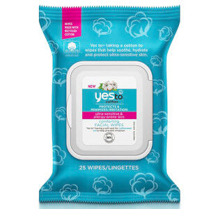 Lingettes Visage Réconfortantes Comforting Facial Wipes yes to cotton (25 lingettes)