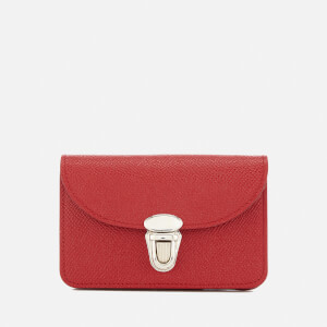 The Cambridge Satchel Company Women's Small Push Lock Purse - Red Saffiano