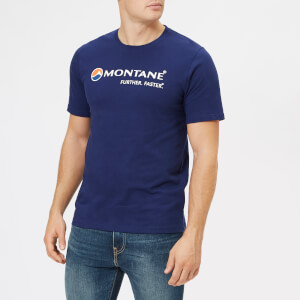 Montane Men's Logo T-Shirt - Antarctic Blue/White