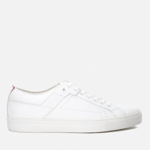 HUGO Men's Futurism Leather Cupsole Trainers - White